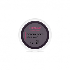 Puder akrylowy kolorowy 5g CZARNA NOC