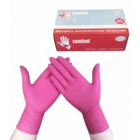 Rękawiczki nitrylowe jednorazowe 100 szt
